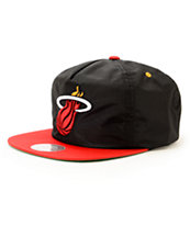 NBA Mitchell and Ness Heat Nylon Ripstop Zip Hat