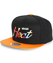 NBA Mitchell and Ness Heat Tie Dye Script Snapback Hat
