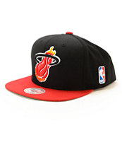 NBA Mitchell and Ness Heat XL Logo Snapback Hat