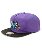NBA Mitchell and Ness Hornets Nylon Ripstop Zip Hat