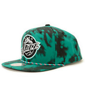NBA Mitchell and Ness Jazz Greenback Strapback Hat