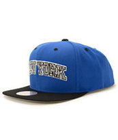 NBA Mitchell and Ness Knicks Blue Team Snapback Hat