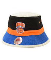 NBA Mitchell and Ness Knicks Color Block Bucket Hat