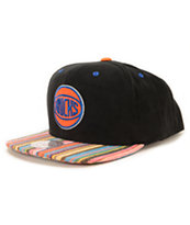 NBA Mitchell and Ness Knicks Native Stripe Snapback Hat