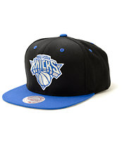 NBA Mitchell and Ness Knicks Sport Blue Strapback Hat
