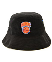 NBA Mitchell and Ness Knicks Team Color Cord Bucket Hat