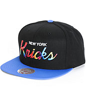 NBA Mitchell and Ness Knicks Tie Dye Script Snapback Hat