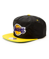 NBA Mitchell and Ness Lakers Nylon Ripstop Zip Hat