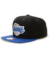 NBA Mitchell and Ness Lakers Sportsblue Strapback Hat