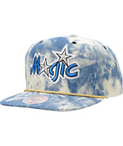 NBA Mitchell and Ness Magic Acid Wash Blue Snapback Hat