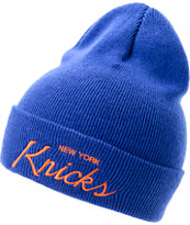 NBA Mitchell and Ness NY Knicks Blue Fold Beanie