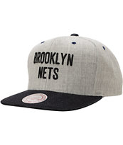 NBA Mitchell and Ness Nets Grey Denim 2Tone Snapback Hat