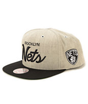 NBA Mitchell and Ness Nets Script Road Snapback Hat