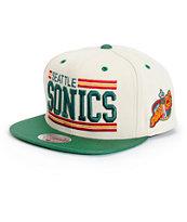 NBA Mitchell and Ness New Block Sonics Snapback Hat