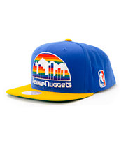 NBA Mitchell and Ness Nuggets XL Logo Blue Snapback Hat