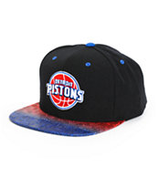NBA Mitchell and Ness Pistons Court Vision Snapback Hat