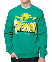 NBA Mitchell and Ness Seattle Sonics Green Crew Neck Sweatshirt