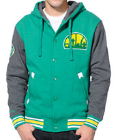 NBA Mitchell and Ness Sonics 2nd Quarter Hooded Varsity Jacket
