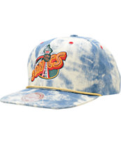 NBA Mitchell and Ness Sonics Acid Wash Blue Snapback Hat