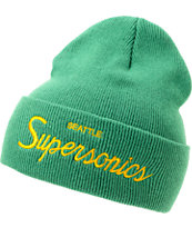 NBA Mitchell and Ness Sonics Green Fold Beanie