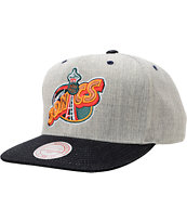 NBA Mitchell and Ness Sonics Grey Denim 2Tone Snapback Hat