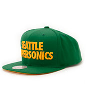 NBA Mitchell and Ness Sonics HWC Title Green Snapback Hat