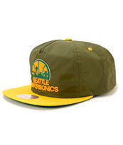 NBA Mitchell and Ness Sonics Nylon Ripstop Zip Hat