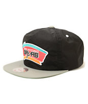 NBA Mitchell and Ness Spurs Nylon Ripstop Zip Hat