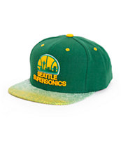 NBA Mitchell and Ness Supersonics Court Vision Snapback Hat