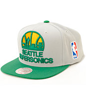 NBA Mitchell and Ness Supersonics Snapback Hat