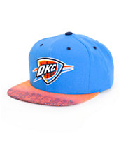 NBA Mitchell and Ness Thunder Court Vision Snapback Hat