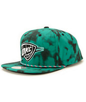 NBA Mitchell and Ness Thunder Greenback Strapback Hat