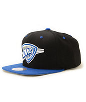NBA Mitchell and Ness Thunder Sportsblue Strapback Hat