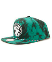 NBA Mitchell and Ness Timberwolves Greenback Strapback Hat