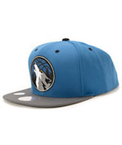 NBA Mitchell and Ness Timberwolves XL Reflective Snapback Hat
