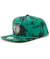 NBA Mitchell and Ness Trail Blazers Greenback Strapback Hat