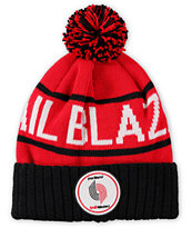 NBA Mitchell and Ness Trail Blazers Pom Beanie