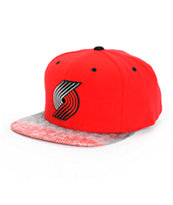 NBA Mitchell and Ness Trailblazers Court Vision Snapback Hat