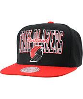 NBA Mitchell and Ness Trailblazers Reverse Stack Snapback Hat