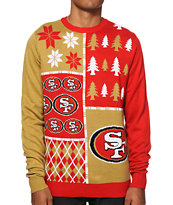 NFL Forever Collectibles 49ers Busy Block Sweater