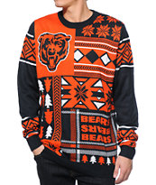 NFL Forever Collectibles Bears Patches Sweater