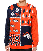 NFL Forever Collectibles Broncos Busy Block Sweater