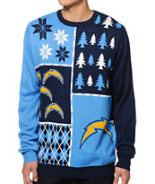 NFL Forever Collectibles Chargers Busy Block Sweater