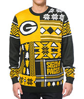 NFL Forever Collectibles Packers Patches Sweater