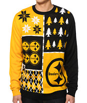 NFL Forever Collectibles Steelers Busy Block Sweater