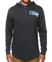NFL Mitchell & Ness Seahawks Henley Hoodie
