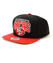 NFL Mitchell and Ness 49ers 2 Tone Snapback Hat