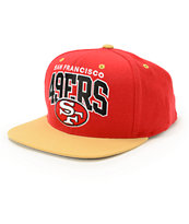 NFL Mitchell and Ness 49ers Arch Logo Snapback Hat
