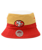 NFL Mitchell and Ness 49ers Color Block Bucket Hat