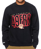 NFL Mitchell and Ness 49ers Retro Blur Crew Neck Sweatshirt